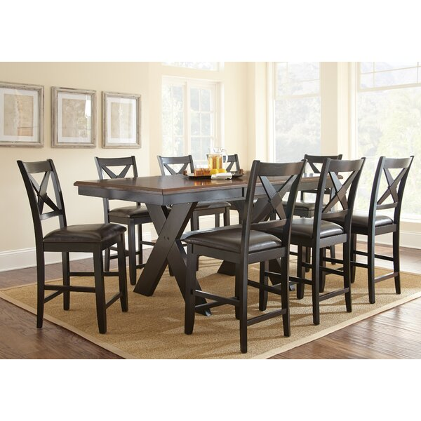alcott hill amsterdam 9 piece counter height dining set u0026 reviews wayfair