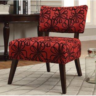Bon Red Armless Chair | Wayfair