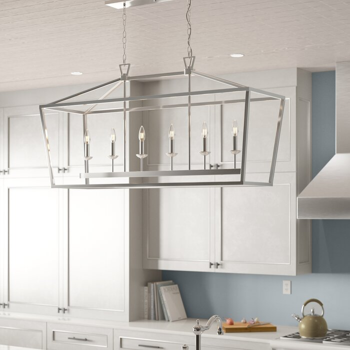 Laurel Foundry Modern Farmhouse Carmen 6 Light Kitchen Island Pendant Reviews Wayfair Ca