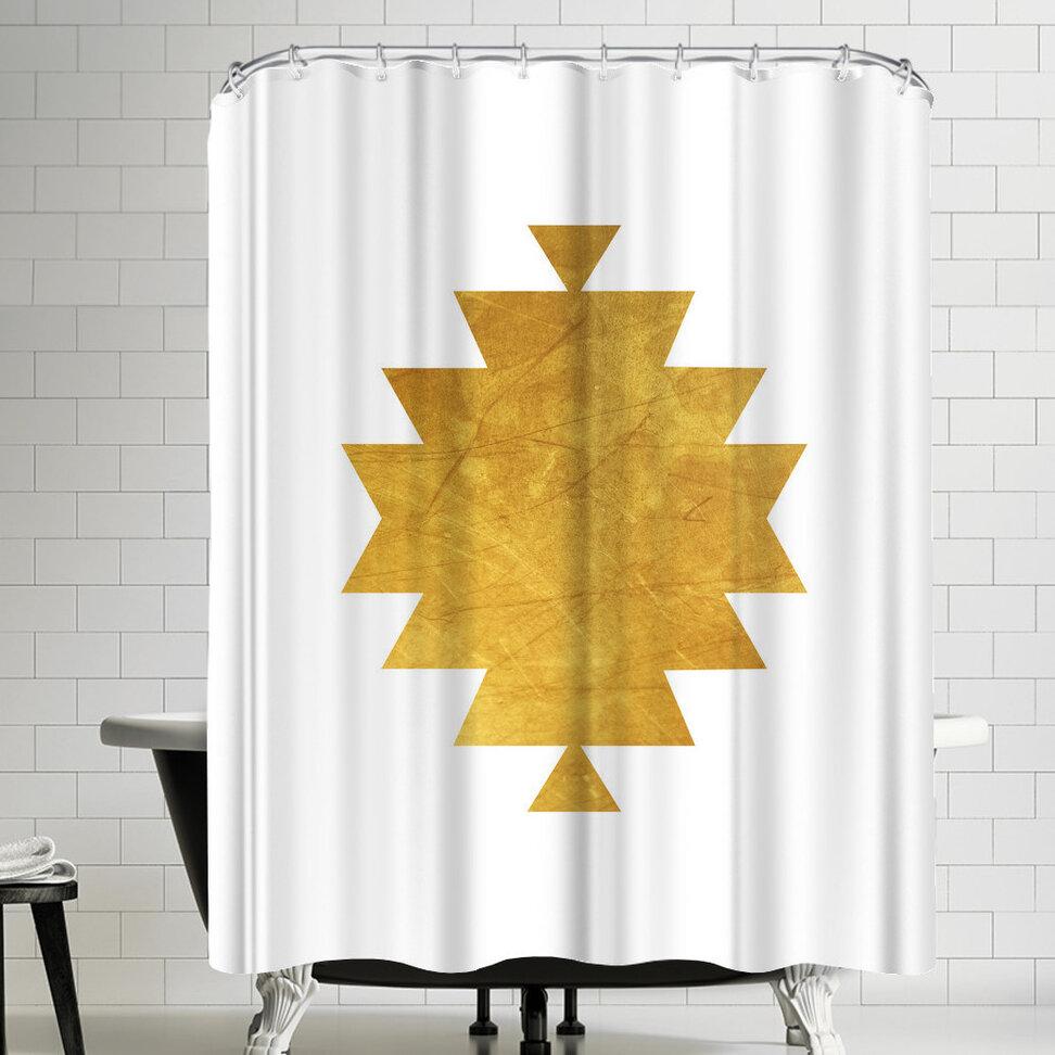 East Urban Home Ikonolexi Aztec Tribal Shower Curtain