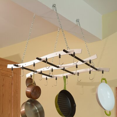 Enclume rack it up ceiling bar hanging pot rack reviews wayfair madeira ceiling mount pot rack mozeypictures Images