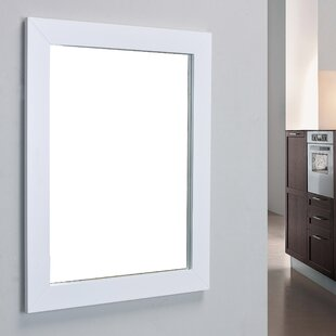 White Framed Bathroom Mirror Wayfair Ca