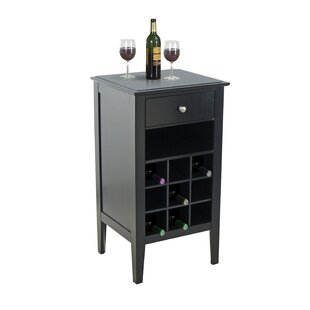 9 Bottle Floor Wine Cabinet