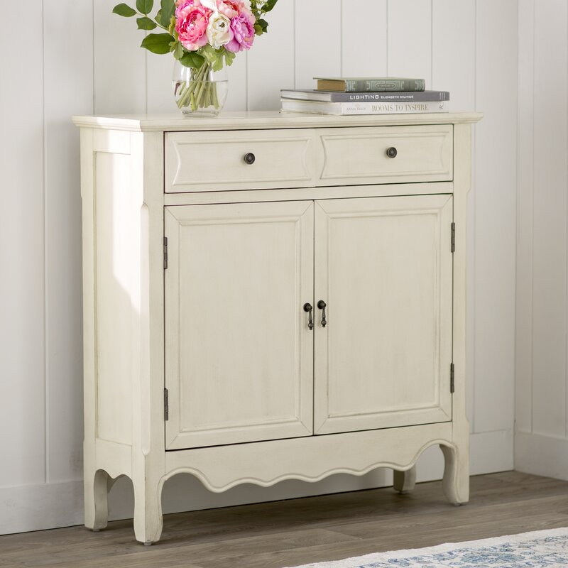 Lark Manor Mauzy 2 Drawer 2 Door Accent Cabinet Reviews Wayfair
