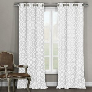 Hornell Geometric Blackout Thermal Grommet Curtain Panels (Set of 2)