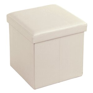 Cube Folding Storage Ottoman by Songmics