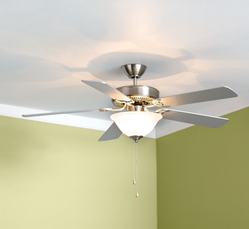 52  Hamlett 3-Light 5-Blade Ceiling Fan & 52