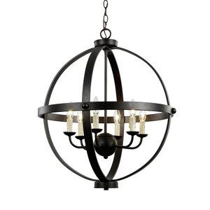 Old World Sphere 6-Light Globe Pendant