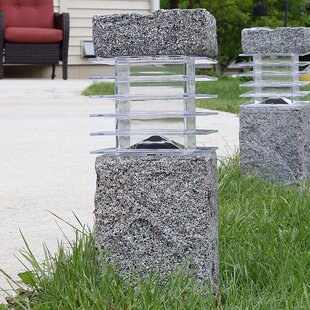 Menifee Outdoor Solar Cement 2 Light Bollard Set Of 4