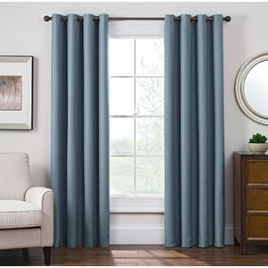 Solid Blackout Grommet Single Curtain Panel
