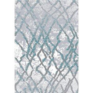 Huxley Silver/Teal Area Rug