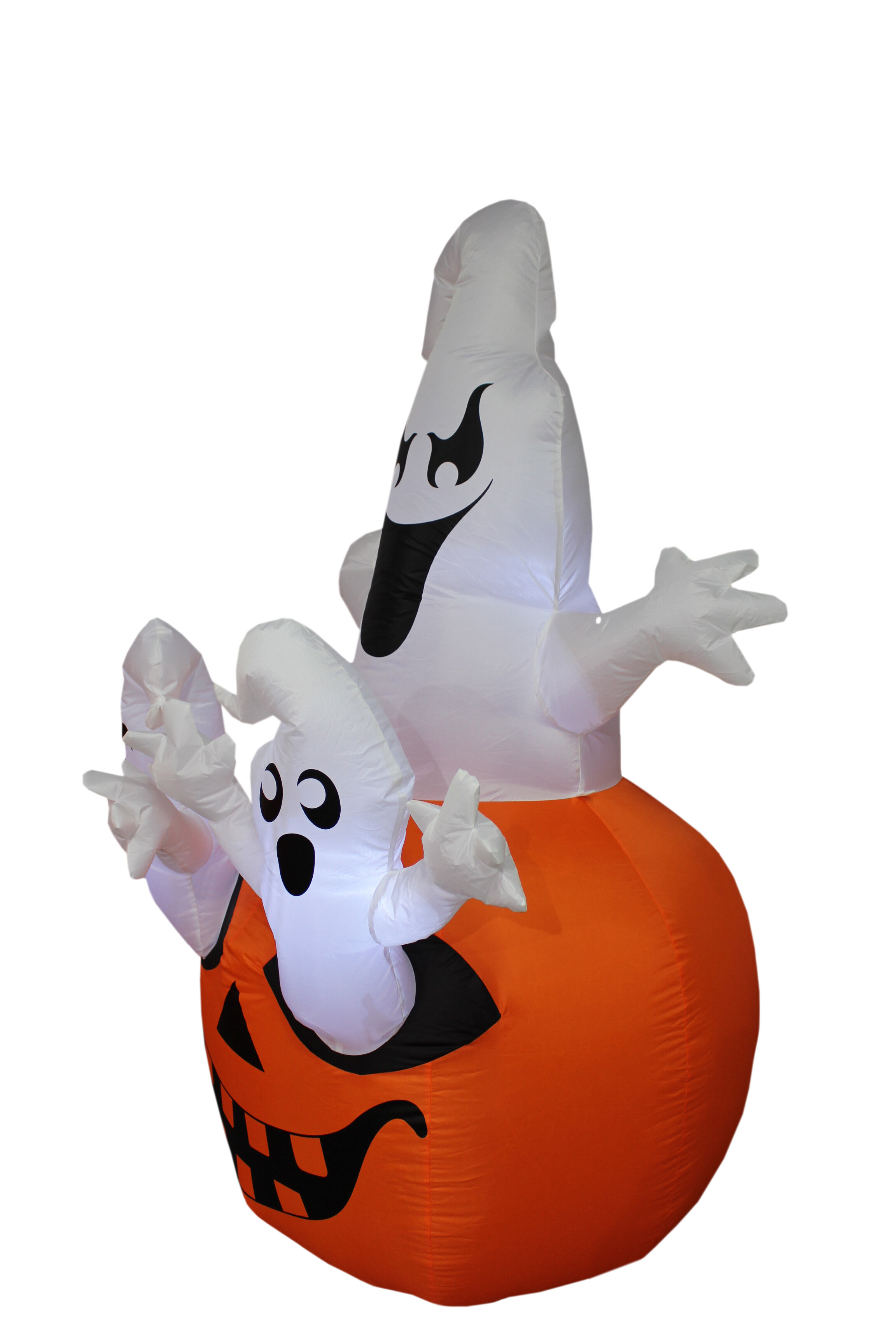 the holiday aisle halloween inflatable pumpkin with ghost reviews wayfair