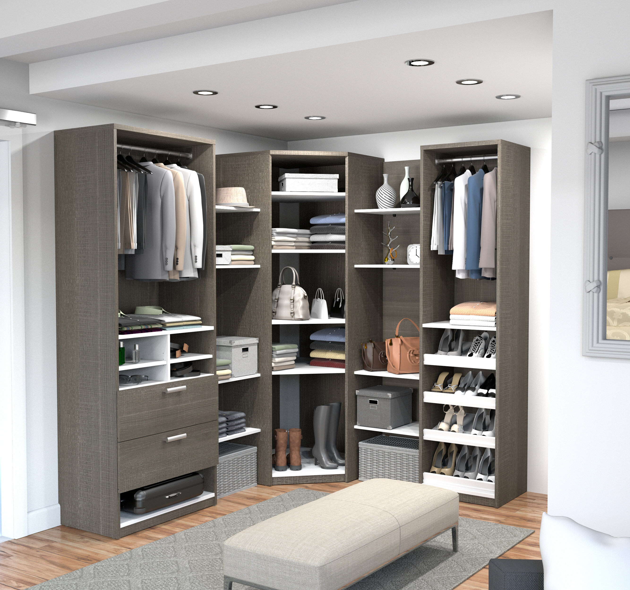 diy free closet industrial projects plans style with wood ana galvanized white pipes system slat