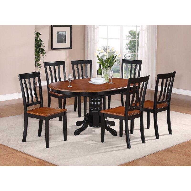 f2a921a01a66 Spurling 7 Piece Drop Leaf Solid Wood Dining Set & Reviews   Joss & Main