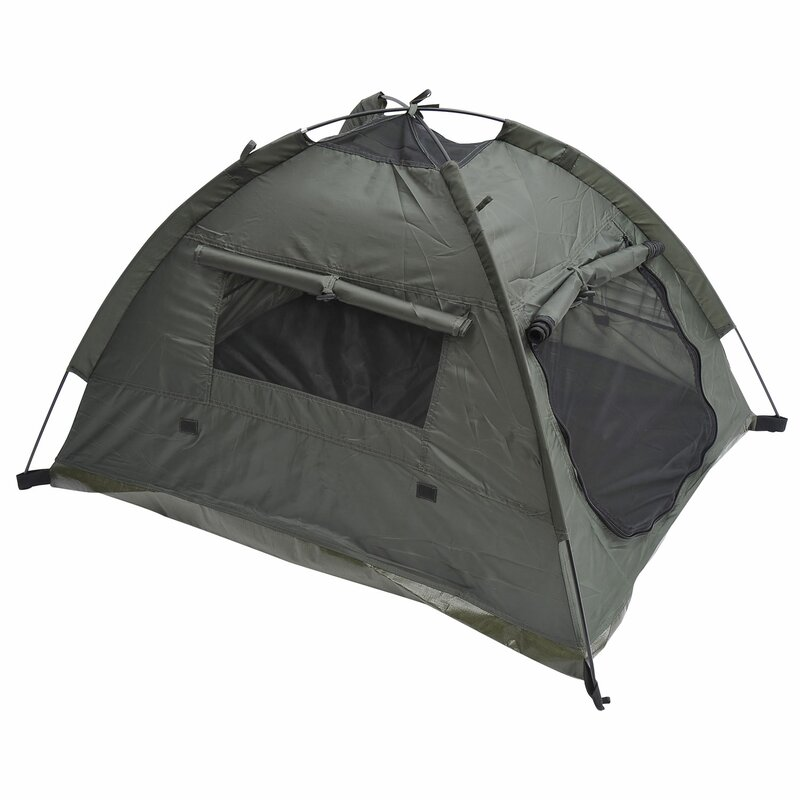 Outdoor Polyester Fabric Pet C&ing Tent  sc 1 st  Wayfair & MDOG2 Outdoor Polyester Fabric Pet Camping Tent u0026 Reviews | Wayfair
