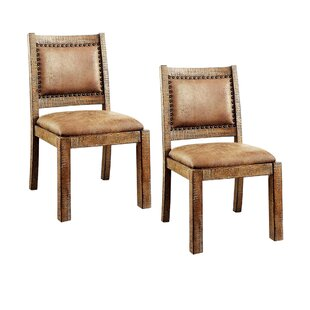 Dalrymple Industrial Solid Wood Dining Chair (Set of 2)