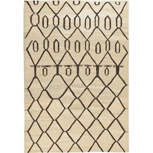 Kilim Dimond Hand-Woven Beige/Brown Area Rug