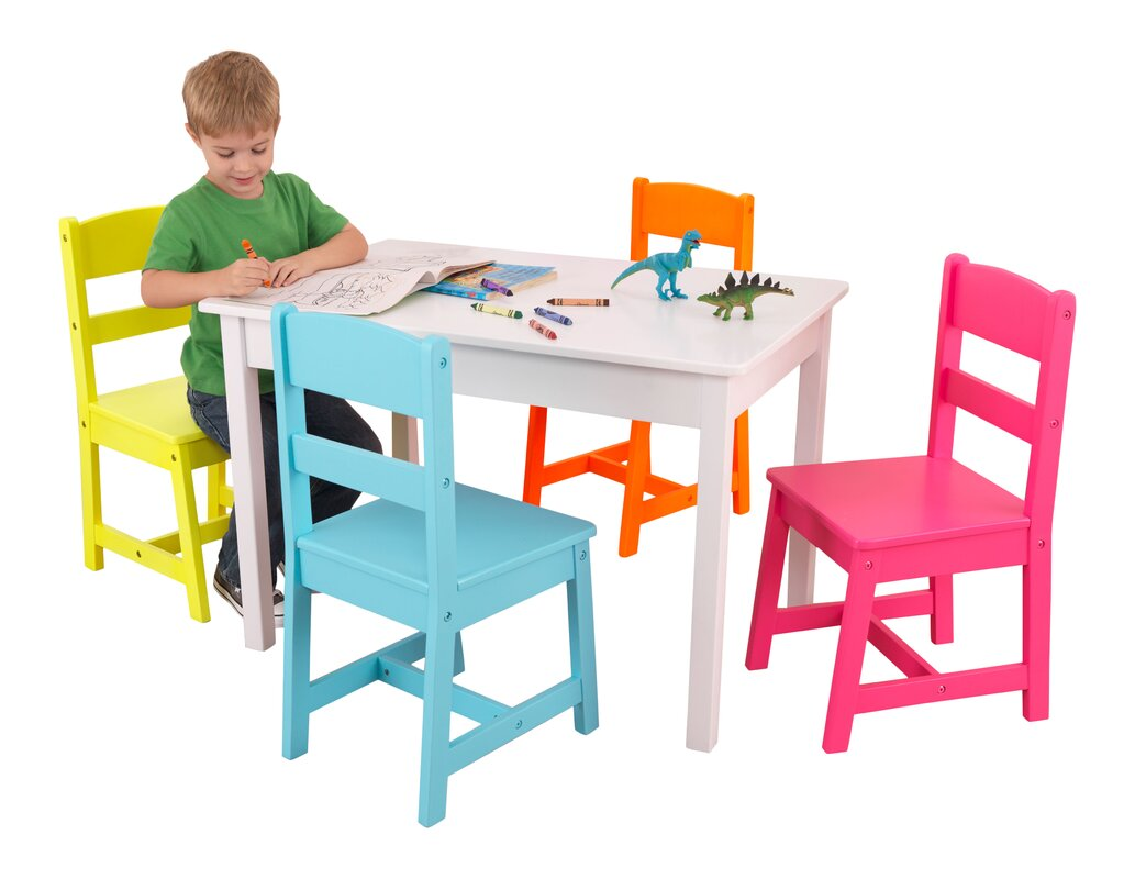 Highlighter Kids 5 Piece Writing Table And Chair Set