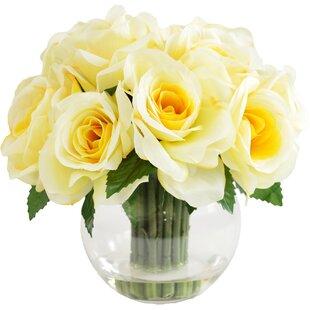 Artificial yellow roses wayfair faux yellow rose mightylinksfo