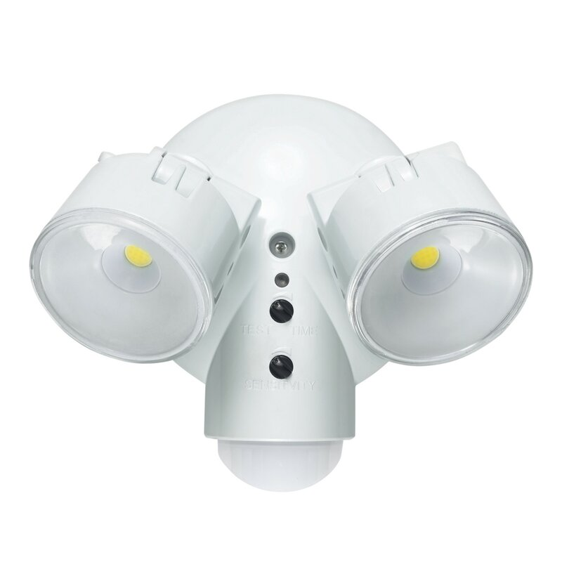 Motion Activated Security 2 Light Outdoor Floodlight