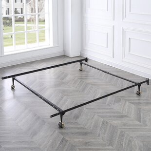 a1899b3aeb6 Standard Heavy Duty Adjustable Metal Bed Frame with Locking Rug Rollers