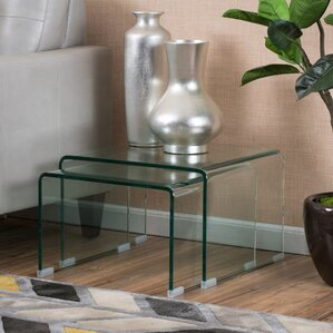 Plastic Acrylic End Side Tables Youll Love Wayfair - Clear nesting tables