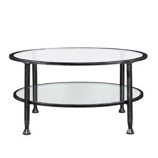 Korinna Metal And Glass Round Coffee Table