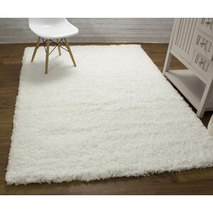 Cloud Microfiber Ultra Soft Shag White Area Rug
