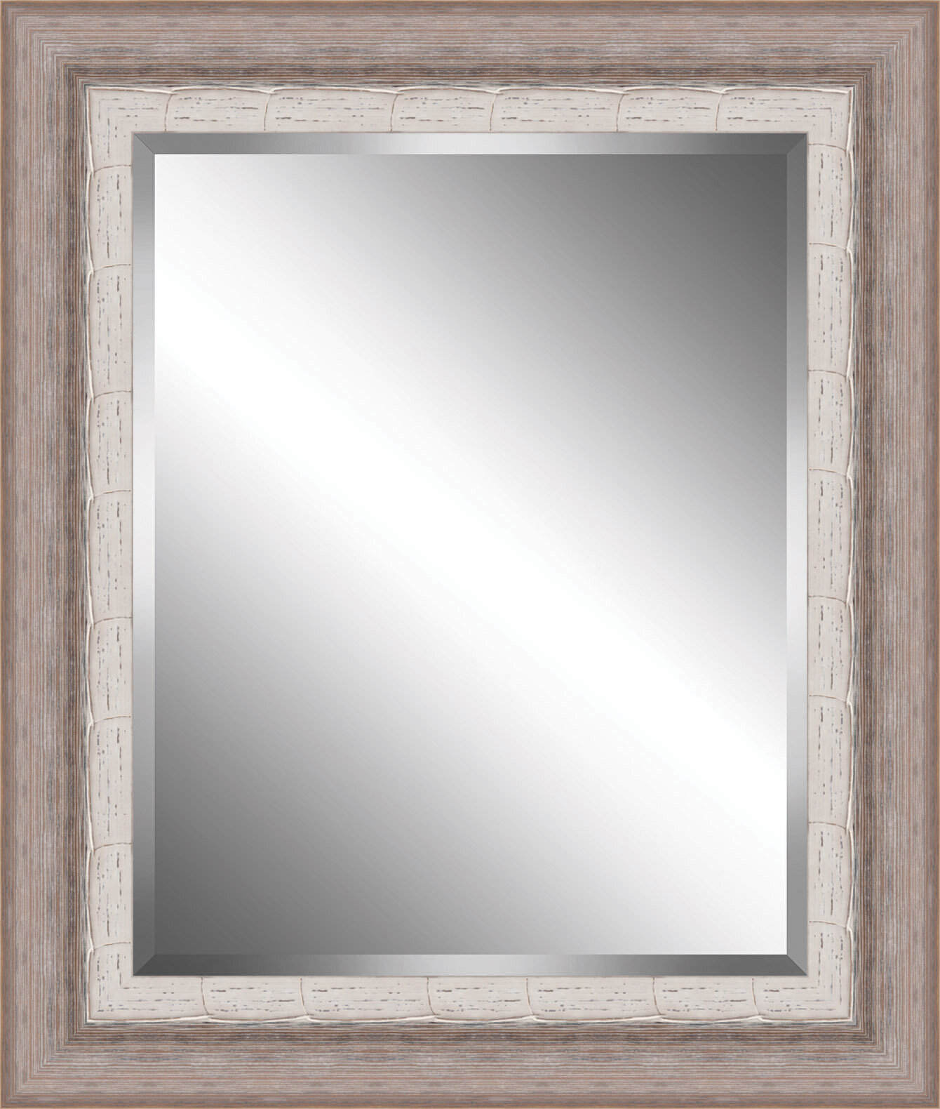 Ashton Wall Décor LLC Ribbed Wood Framed Beveled Plate Glass Mirror ...