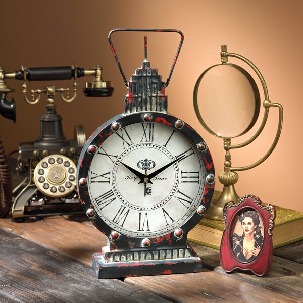Design Toscano Gotham Steampunk Metal Table Clock U0026 Reviews | Wayfair