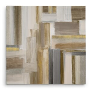 'Fields II' Oil Painting Print on Wrapped Canvas