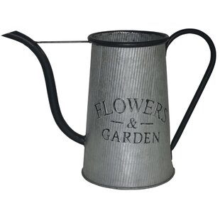decorative metal flowers and garden watering can - Garden Watering Can