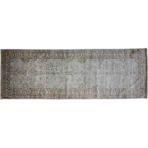 One-of-a-Kind Vibrance Hand-Knotted Gray Area Rug