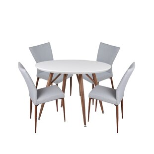 Brandyn 5 Piece Breakfast Nook Dining Set
