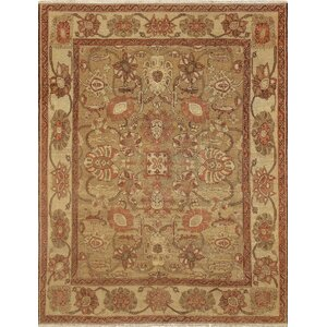 One-of-a-Kind Leann Hand Knotted Wool Brown Area Rug