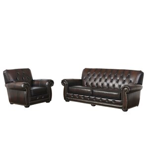 Everson 2 Piece Leather Living Room Set by Darby Home Co
