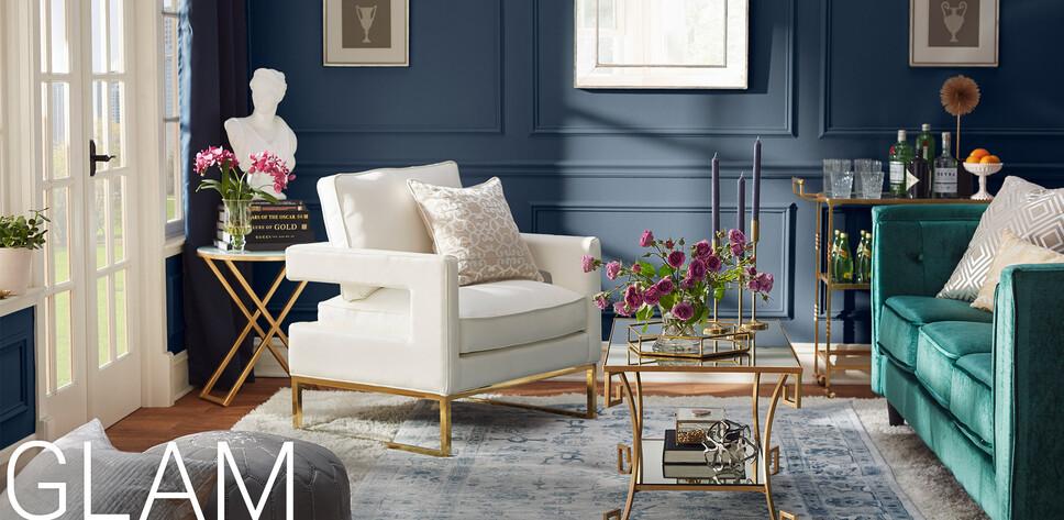 glam furniture decor - Glam Bedroom Furniture