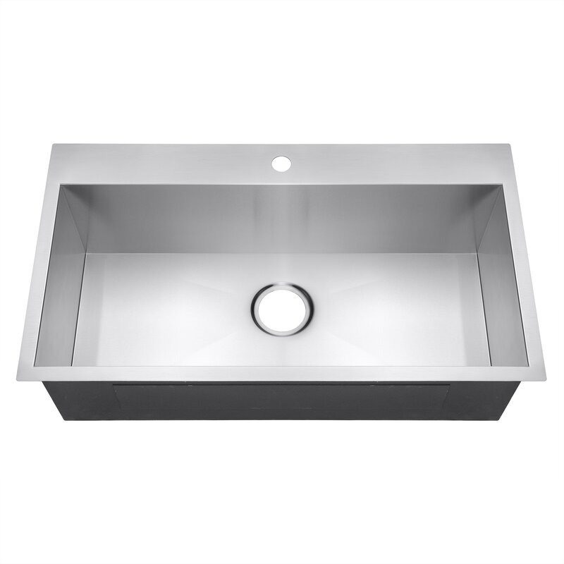 Single Bowl Kitchen Sinks Akdy 18 x 32 single bowl kitchen sink reviews wayfair 18 x 32 single bowl kitchen sink workwithnaturefo