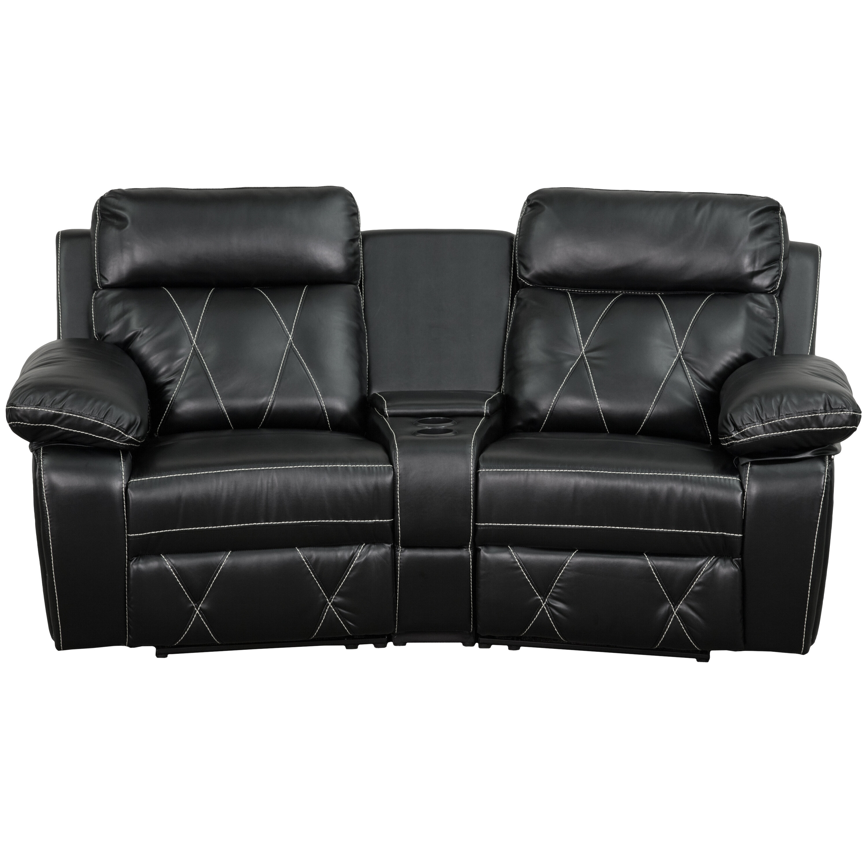 Red Barrel Studio Traditional Faux Leather Home Theater Recliner Wayfair