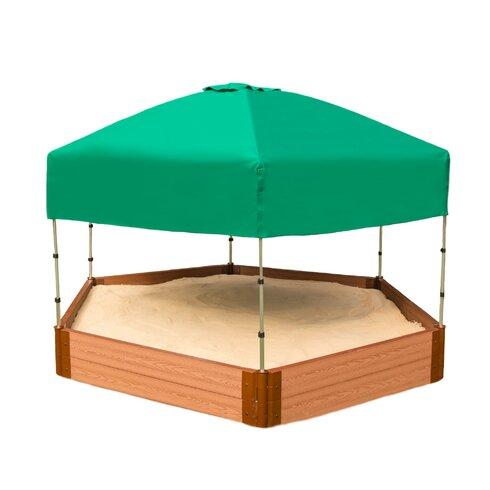 8u0027 W Hexagon Sandbox with Canopy/Cover  sc 1 st  Wayfair & Frame It All 8u0027 W Hexagon Sandbox with Canopy/Cover | Wayfair