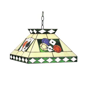 Tiffany 2-Light Pool Table Light