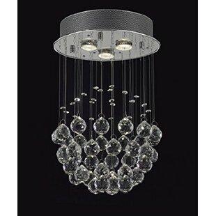 Crystal rain drop chandelier wayfair drewes 3 light crystal chandelier aloadofball Gallery