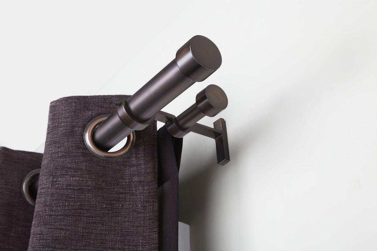 double rod curtain rods hardware