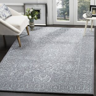 Wilkins Hand-Tufted Opal/Gray Area Rug By World Menagerie