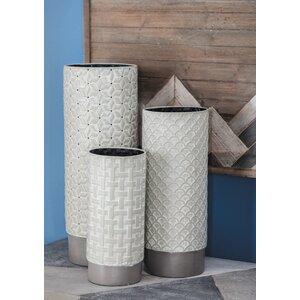 Metal 3 Piece Table Vase Set