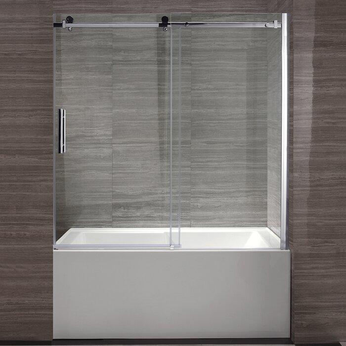 Ove Decors 60 X 59 Semi Frameless Tub Door Wayfair