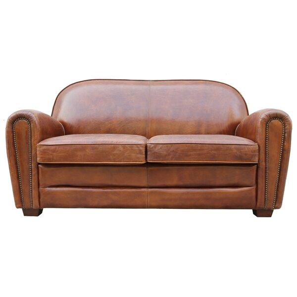 Exceptionnel Pasargad Paris Club Leather Loveseat | Wayfair