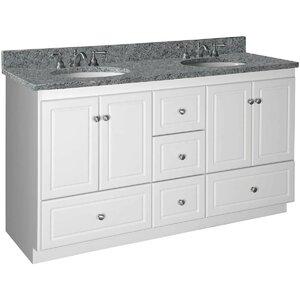 Simplicity 60 Double Bowl Bathroom Vanity Base