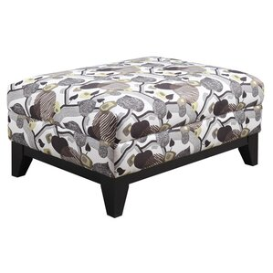 Sierra Blanca Leaf Print Cocktail Ottoman by Red Barrel Studio