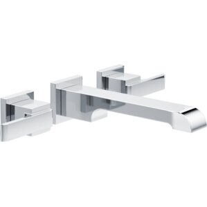 ara two handle wallmount lavatory faucet